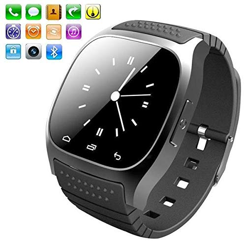 Amazon.com: MTOFAGF Newest Multilingual Bluetooth Smart Watch Reloj Inteligente for Android Phone Fashion Gifts MTOFAGF Brings You The Best (Color : Black): ...
