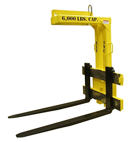 "ELT Pallet Lifter 3 Ton 48"" Adjustable Crane Fork"