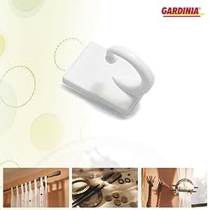 Gardinia - Ganchos para alzapaños (plástico, 2 unidades), color blanco