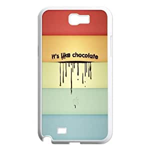 Samsung Galaxy N2 7100 Cell Phone Case White quotes 14 like chocolate Lmxtp