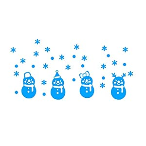 ZTY66 Christmas Snowman Glow Wall Sticker Luminous Stickers Window/Door Decor Glow in The Dark Sticker