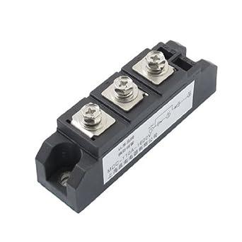 DealMux Preto 3 Terminais Rectifier Módulo Transistor Semiconductor AC 1600V 110A