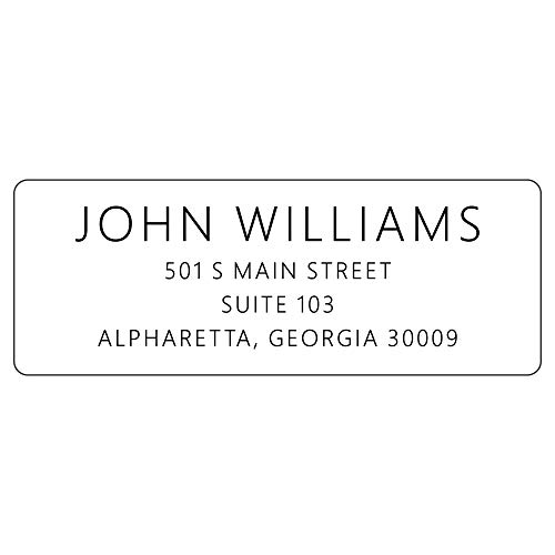 Return Address Labels - Personalized Stickers, 250 Adhesive Peel and Stick Labels - Simple Sans Serif Font