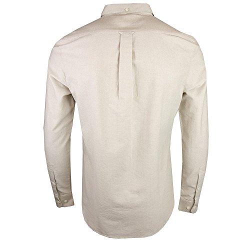 Farah Brewer Slim Manica Lunga Camicia Button Down Mens S Almond