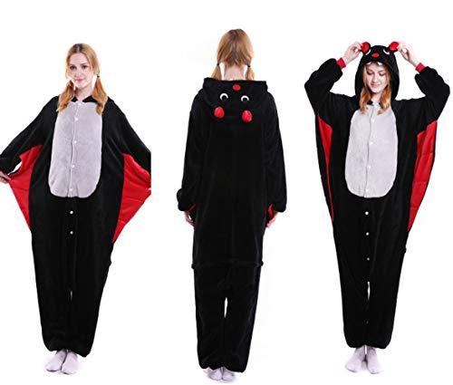 ZHANGZHIYUA Adult Skeleton Animal Costume Pajamas for Adults and Teens,A,L ()