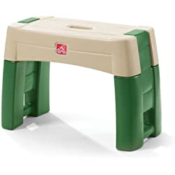 Step2 Garden Kneeler Seat - Durable Plastic Gardening Stool with Kneeling Cushion Pad, Multicolor