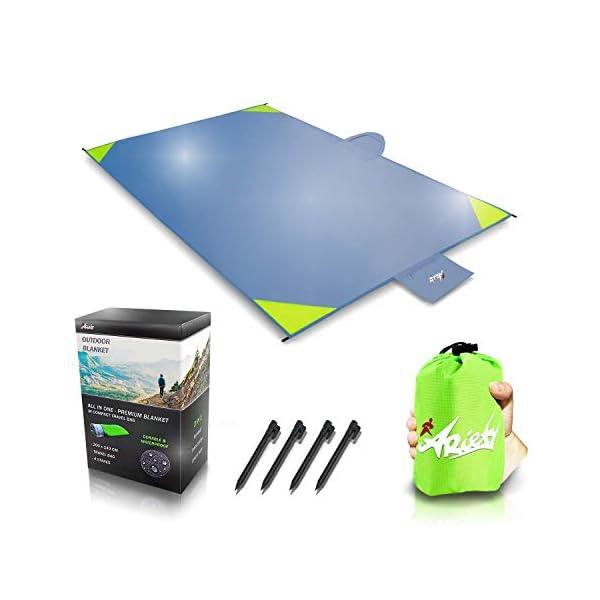 41oFMy7quoL ARiety Picknickdecke wasserdicht Ultraleicht - XXL Outdoor Decke ideal als Stranddecke, Regenponcho oder Sitzunterlage…
