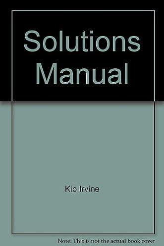 solutions manual amazon co uk kip irvine books rh amazon co uk