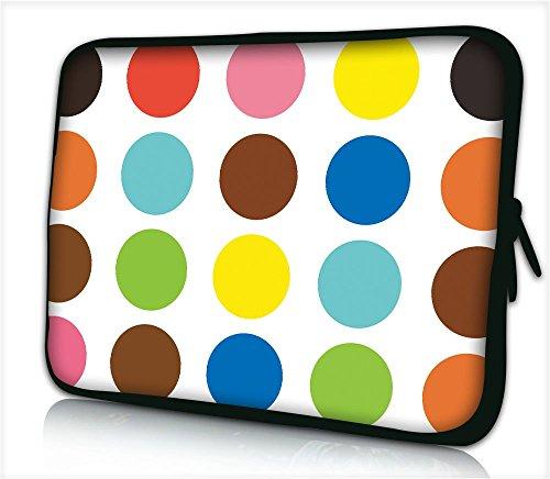 Silent Monsters Neopren Schutzhülle 43,9 cm (17,3 Zoll) für Laptop color points