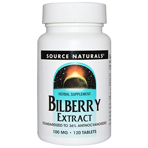 Bilberry Extract, 100 MG, 120 Tabs by Source Naturals (Pack of 4)