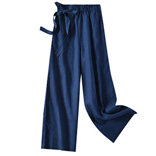 Mary Green Silk Bra - Benficial Casual Womens Pants Elastic Waist Cropped Trousers Bottoms Sports Wear Pants Navy