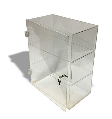 3 Tier - Large Acrylic Lockable Display Cabinet - Case/Bakery Display Cabinet/Store Display Cabinet/Restaurant Display Cabinet