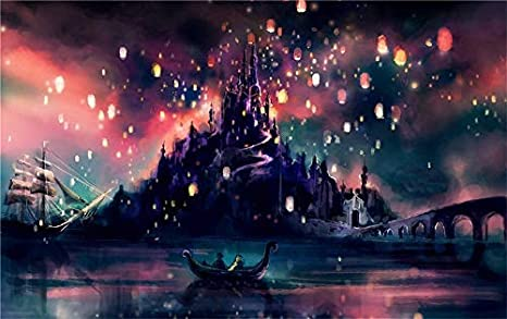 Amazon Com Artwcm Tangled Floating Lanterns 2 Sizes Oil Paintings Modern Canvas Prints Artwork Printed On Canvas Wall Art For Home Office Decorations 518 Unframed 16x24inch Posters Prints