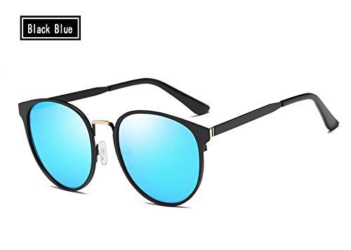 Eyewear sol marrón Vintage hombres gafas de sol de TL sol Sunglasses polarizadas UV400 Retro Guía blue de Gafas Gafas black qwxnaB4Tt