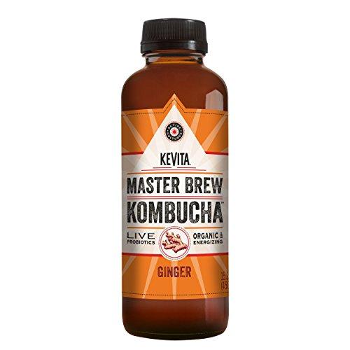 KeVita Master Brew Kombucha, Ginger, with Live Probiotics, 15.2 oz.