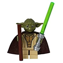 LEGO® Star Wars™ Yoda minifig with stick and Custom Cape