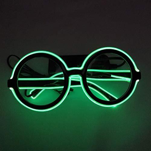 Adultos Con gafas Para De Y 2gn Niños Regalo Zarlle Led Verde Cumpleaños Led Sol Navidad Gafas Luminosas Brillantes Fiesta Halloween Aviador Luz px88gHFwq