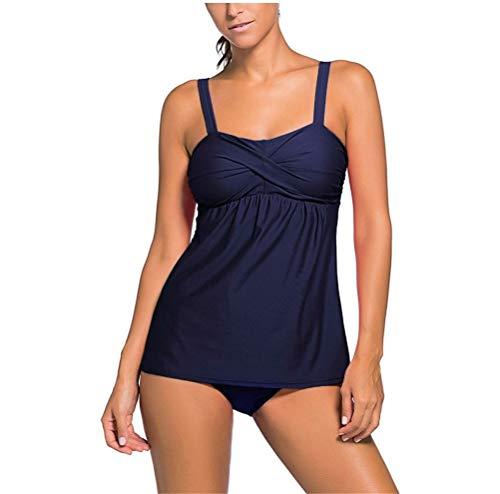 Fashion Set Dunkelblau Da Bikini Beach Top Bagno Swimwear Festivo Costumi Due Tankini Donna Abbigliamento Costume T7UqwgS7