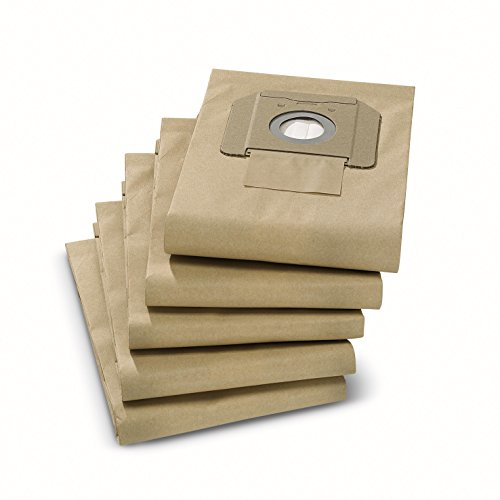 Karcher Paper Filter Bags for NT 25/1 & 35/1 Wet & Dry Vacuums, 5-Pack