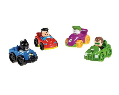 Fisher-Price Little People DC Super Friends Wheelies 4-Pack, Baby & Kids Zone