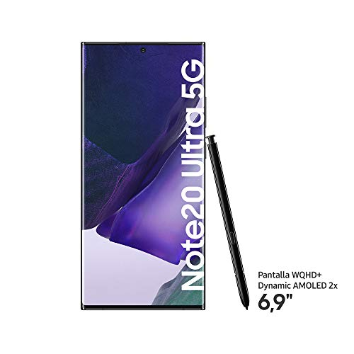 "Samsung Galaxy Note20 Ultra 5G Smartphone Android Libre de 6.9"" 256GB, Negro (Mystic Black)"
