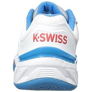K-Swiss Men's Bigshot 2.5 Performance Tennis Shoe, White/Methyl Blue/Fiery Red, 6.5 M US