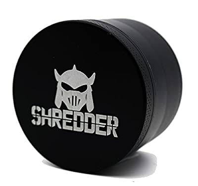 SHREDDER 5 Piece Herb Grinder 3 Chamber with Kief Catcher Stainless Mesh Screen Sharp Blades For Spices Herbs and Trees by SHREDDER