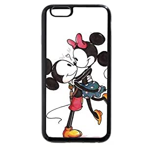 """Customized Black Soft Rubber(TPU) Disney Cartoon Mickey Mouse iPhone 4.7 Case, Only fit iPhone 6 4.7"""""""