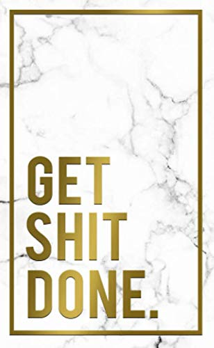 Get Shit Done: Marble & Gold 2020-2021 Two Year Monthly Pocket Planner & Organizer   Motivational 2 Year Agenda & Calendar, Phone Book, Password Log, Inspirational Quotes & Notes (Creative Planners)