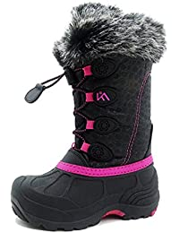 Kids Winter Snow Boots Waterproof and Insulated for Girls and Boys