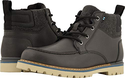 TOMS Hawthorne Leather Boot - Men's Waterproof Forged Iron Leather, 8.5 -