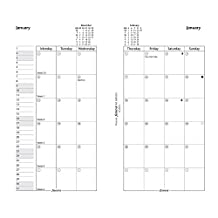 Filofax C68410-2017 Month on Two Pages Refill, January to December, 6-3/4-Inch by 3-3/4-Inch,English