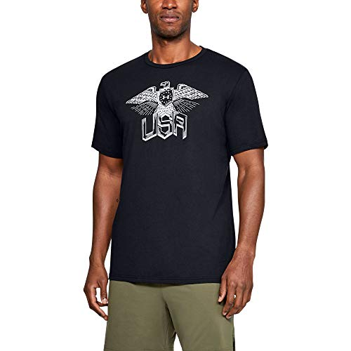 Freedom Eagle - Under Armour Freedom Eagle T-Shirt, Black//Gray Flux, X-Large