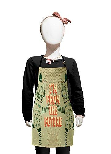 Futuristic Costumes Images - Lunarable Kids Kids Apron, Vintage Futuristic