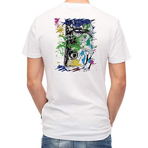 AnglersLife T 셔츠 ヘラブナ 페인트 페인트 United Athle (유나이티드 스 레) 화이트 흰색 폴 리 에스테 르 100% 4.1 oz UTF30 / AnglersLife T-shirt Herabuna Paint Paint Paint United Athle White White White Polyester 100% 4.1oz UTF30