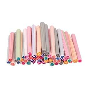 50pcs cute 3d design nail art nailart manicure for 3d nail art fimo canes rods decoration
