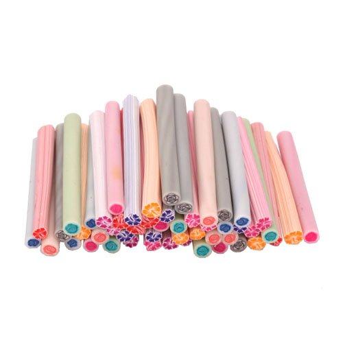 50pcs cute 3d design nail art nailart manicure hibiscus for 3d nail art fimo canes rods decoration