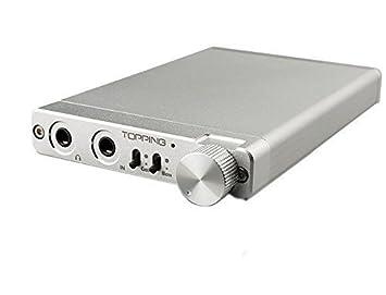 Topping NX3 amplificador portable para auriculares muy fino, plateado.