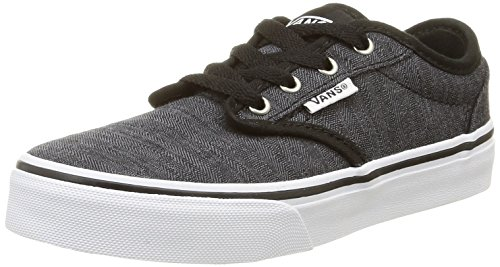 Vans Jungen Atwood Low-Top Schwarz (distress/black/white)
