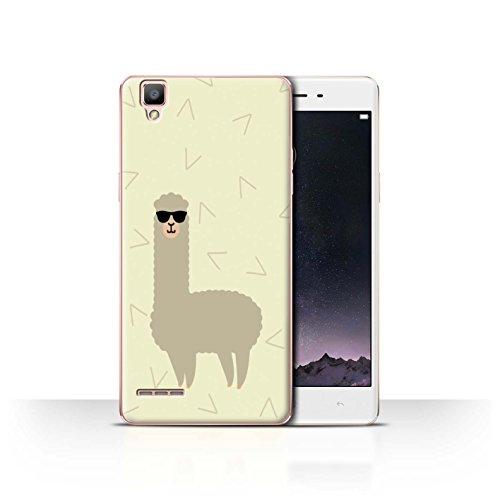 STUFF4 Phone Case / Cover for Oppo F1 / Cool Shades Sunglasses Design / Cartoon Alpaca - Sunglasses F1