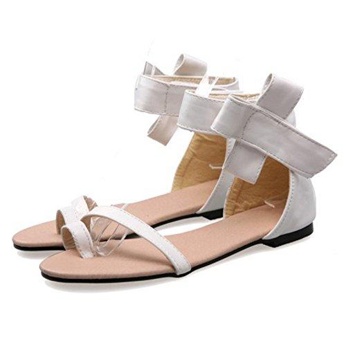 white Nu Pieds Femmes Plates Sandales Coolcept wqpXHtzq