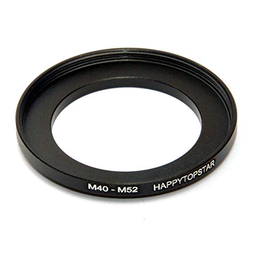 (Metal M40 to M52 Male to Female 40mm to 52mm M40-M52 Step-Up Coupling Ring Adapter for Lens Filter)