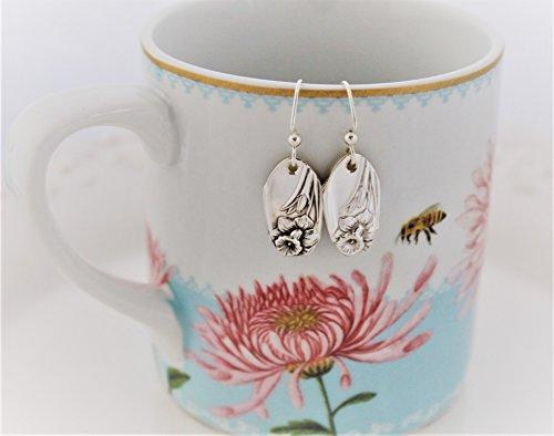 Silver Spoon Earrings VINTAGE Silverware Jewelry ~ DAFFODIL 1953 ~ STERLING Silver Ear Wires Spoon Jewelry Earrings Silverware Earrings Keepsake Gift Ready To (Vintage Silverware Silver Jewelry Earring)