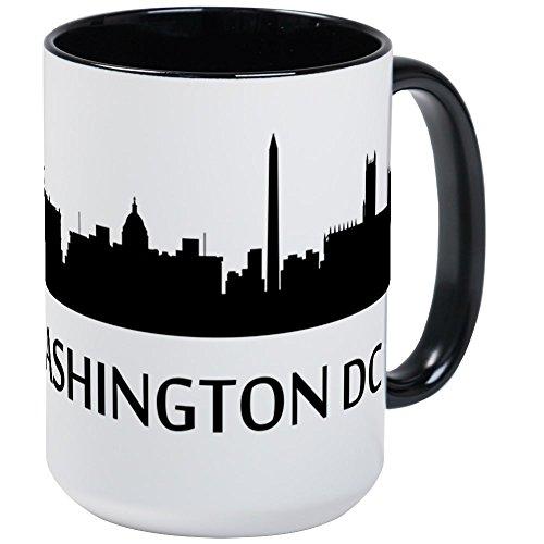 CafePress - Washington DC Cityscape Skyline Mugs - Coffee Mug, Large 15 oz. White Coffee Cup -