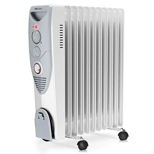 Pro Breeze 2500W Oil Filled Radiator, 11 Fin - Portable Electric Heater -...