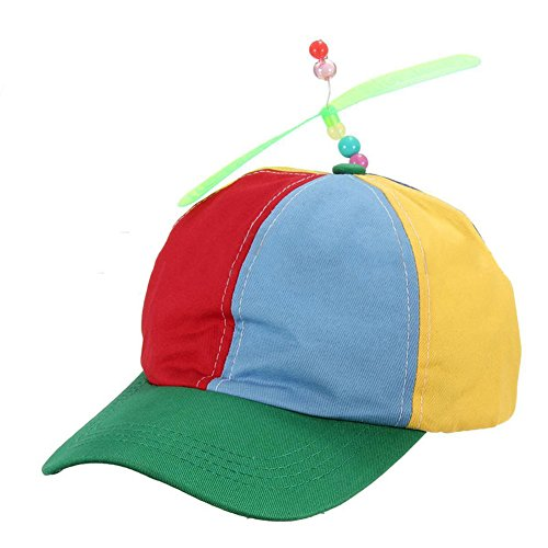 mk. park - Propeller Ball Baseball Hat Multi-Color Clown Costume Accessory Adjustable (Green)