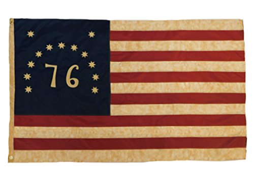 Founding Fathers Flags 76 Bennington Vintage Flag 3×5′ Nylon Embroidered Review