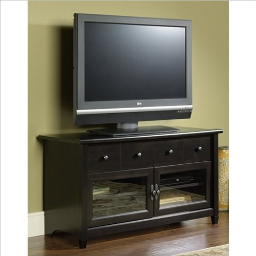 042666133005 - Sauder Edge Water Panel TV Stand, Estate Black Finish carousel main 2