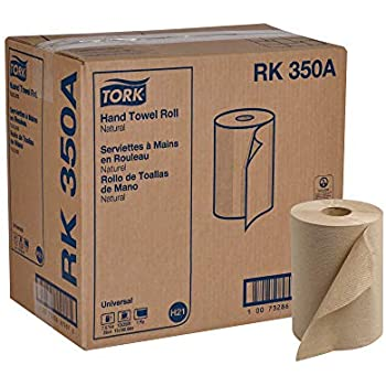 Tork Universal RK350A Hardwound Paper Roll Towel, 1-Ply, 7.87