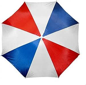 "Beach Umbrella 72"" Wide & 72"" Inches High (Red/Blue/white)"